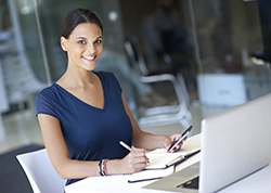 A female Technical Writer working