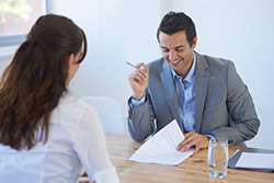 A Hiring Agency Specialist Interviewing a Candidate