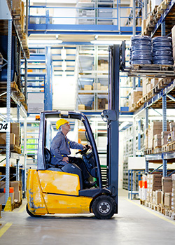 Warehouse Loading by a Forklift Operator
